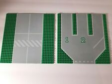 Lego Large Baseplate Lot of 2 City Airport Town Roads Building Base Plate 32x32