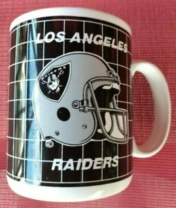 Vintage 1990's Los Angeles Raiders NFL Coffee Mug with Raiders logo LV OAKLAND