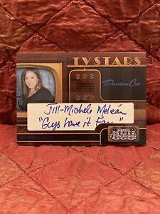 2009 Donruss Americana TV STARS JILL MICHELE MELEAN Cut Auto Autograph 2/40 !
