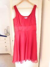 Size 16 red chiffon dress from Monsoon