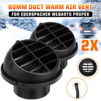 2x 60mm Heater Duct Air Outlet Vent Directional 201577890600 For Webasto Propex