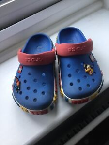 Lego Crocs size J 1. With Superman and Pluto additions.