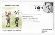 2003 OPEN GOLF ROYAL ST GEORGE'S FDC IDE first day cover Sandwich Handstamp