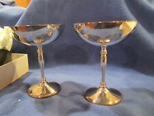 Vintage Sheffield Silver Champagne Pair of Goblets