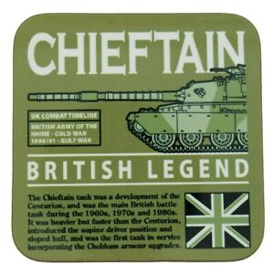 FV4201 Chieftain British MBT Army Tank Design Green Coaster.