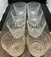 """Set of 8 PRINCESS HOUSE Old Fashioned / Tumbler Crystal Glasses 866 ~ 3.25"""" High"""
