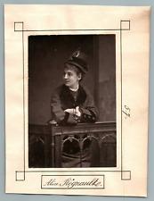France, Paris, Théâtre, Alice Régnaulte  Vintage print. Alice Regnault, née Augu