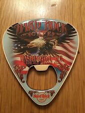 HARD ROCK CAFE BOTTLE OPENER MAGNET. WASHINGTON D.C. PICK. V7