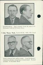 Nottingham Police 1958. Glyn Bertram Peters. George Baxter. John Wade.   QR443