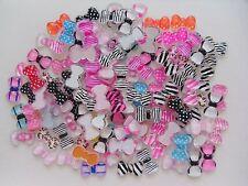 "20pcs x ""Tiger Spotty Stripe Print Bow Mix G"" 3D Acrylic Nail Art Craft Bows"
