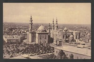 Egypt - Rare - Vintage Post Card - General view of Cairo