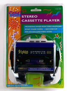 Street Beat 8940 Stereo Cassette Player Purple with Headphones, VINTAGE 1995 NEW