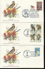 1980 Cheyenne Wyoming Indian Paintbrush Western Meadowlark First Day Covers