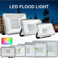 10 Pack RGB LED Flood Light 10-100W Outdoor Garden Landscape Security Spotlight