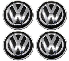 Set of 4 Center Wheel Caps for Volkswagen Golf, Golf R, GTI, MK7 Carbon Fiber