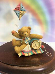 Cherished Teddies Clock Time Flies When You Are Having Fun 2001  #789886  NIB