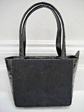 NANCY GONZALEZ black crocodile and calf hair evening tote bag handbag CARRIED 1x