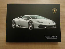 Lamborghini Huracan LP 610-4 Owners Handbook/Manual