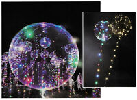 LED Heliumballon Luftballon mit Lichterkette bunt Partydeko Hochzeit Strandparty