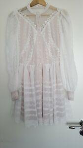 Schönes Kleid weiss beige Spitze im Zimmermann Stil Gr. M NEU