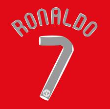 Manchester United Name Set 07-08 Home Shirt RONALDO 7 Champions League Man Utd