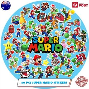 50 Pcs Super Mario B Vinyl Stickers