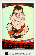 2011 AFL Teamcoach Cards Star Wild SW5 David Hille (Essendon)