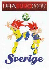 Panini Sticker Fußball Euro 2008 Nr. 384 SVE Sverige Mascots / Maskottchen NEU