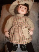 """""""Hannah"""" Anastasia Doll Collectible Porcelain Quality Artistry Detail Xmas Gift"""
