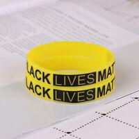 2Pcs Black Lives Matter Silikon Armband Gummi Armreifen Für Männer Frauen JewXUI