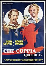 CHE COPPIA QUEI DUE MANIFESTO FILM TONY CURTIS ROGER MOORE 1975 MOVIE POSTER 4F