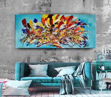 Pollock Abstract Art impressionist original painting Multicolored Canvas Art
