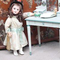 Antike Puppen Frisier Wasch Kommode aus Holz 1920s Jugendstil  für antike Puppe