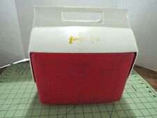 New listing Vintage Igloo Little Playmate Red/White Cooler McDonalds 6 Pack Push Button Open