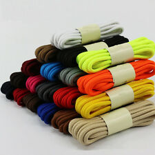 Hot Round Waxed Dress Shoelaces Leather Shoes Strings Boot Sport Shoe Laces Cord