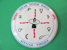 "Solar System Radar JPL NASA AFFVLGE VIDEQVE Pin 3"" Dia."