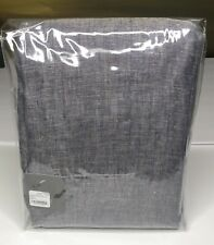 "Restoration Hardware Sheer Belgian Linen Drapery RP 100"" x 108"" Indigo NEW $309"