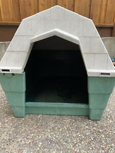 Pet Mate Large Green Gray Dog House