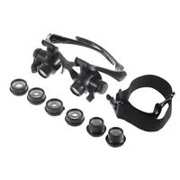 10X 15X 20X 25X LED Glasses Jeweler Magnifier Watch Repair Magnifying Loupe JD