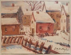 New Hope Bucks County PA Impressionist Artist Pasquale Battaglia Snow Painting