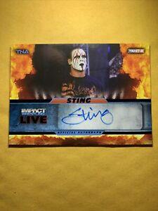 2013 Tristar TNA Impact Sting Blue Foil Auto / Autograph #14/25 *SWEET*