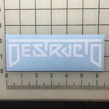 """Destructo Logo 6"""" Wide White Vinyl Decal Sticker - BOGO"""