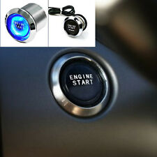 Vehicle Engine Start Push Button Switch Ignition Control Kit Device Blue LED 12V