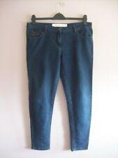 NEXT Size 16 Regular Indigo Blue Stretch Cotton Denim Skinny Jeans