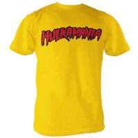 Adult Wrestling WWE Hulk Hogan Hulkamania Yellow Gold Costume T-shirt Tee