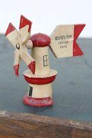 Vintage Worlds Fair Chicago 1934 Windmill Souvenir wood antique weathervane