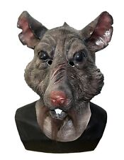 Rat Mask Splinter Ninja Turtles Animal Latex Sewer Fancy Dress Halloween Costume