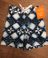 NWT Gymboree Infant Boys Blue/White Swimtrunks size 3T FREE SHIPPING