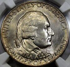 1927 Vermont Commemorative Half NGC MS-64... Super NICE PQ Coin, a Real Blazer!!