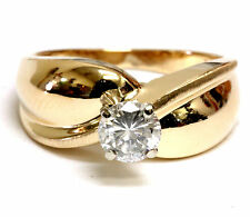 14k yellow gold .50ct SI3 I round diamond engagement ring 4.6g ladies vintage
